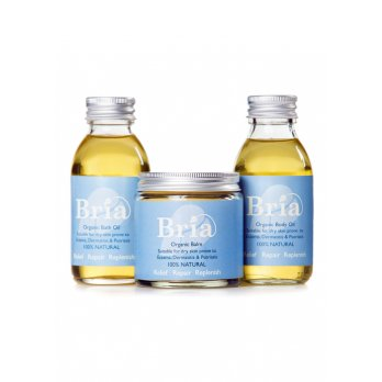 Bria Organics Relief Repair Replenish Bath Oil, Body Oil & 120ml Balm